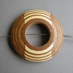 Brosche Furnierholz