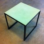 Tadelakttisch grün L 48 cm, B 48 cm, H 48 cm