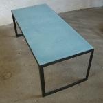 Tadelakttisch blau  L 96cm, B 42 cm, H 36 cm