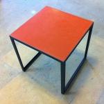 Tadelakttisch rot L 48 cm, B 48 cm, H 48 cm