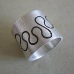 Ring Silberblech geprägt